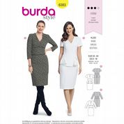 6383 Burda Pattern: Misses' Dress with Optional Peplum